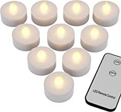 Monzana 10 LED Teelichter Mit Fernbedienung & Batterie Flackernd Flammenlos Warmweiss Elektrische Kerzen Flackernde Flamme Batteriebetrieben