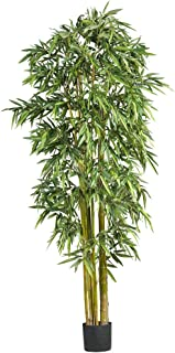 Nearly Natural 7' Big Bamboo Silk Artificial Trees, 84in, Green