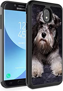 Galaxy J3 2018/J3 Express Prime 3/J3 Star/J3 Achieve Case,Rossy Hybrid TPU Plastic Dual Layer Armor Defender Protection Case for Samsung Galaxy J3 2018,Schnauzer Puppy Dog