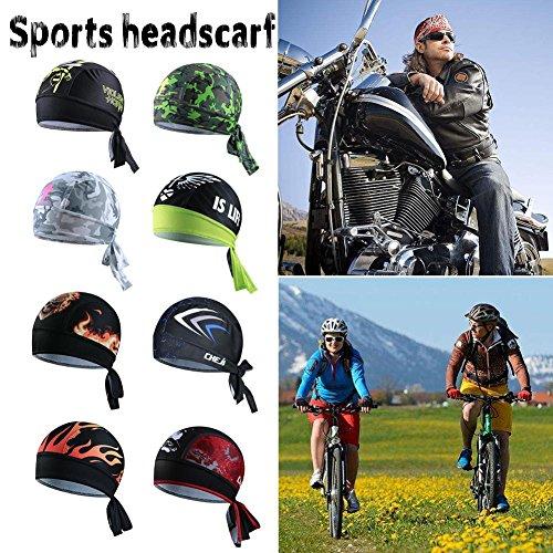 iBaste Outdoor Sport Fahrrad atmungsaktiv Hat Quick-Dry Bike Radfahren Kopftuch Pirat Schal Stirnband - 4