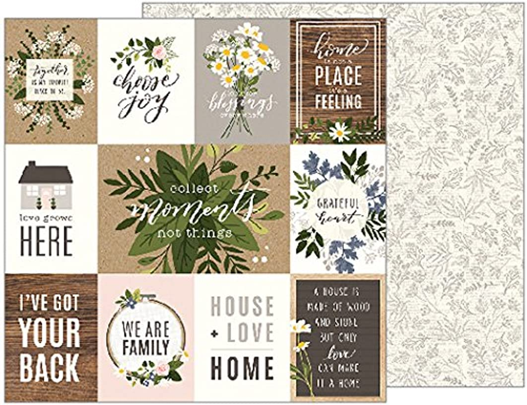 American Crafts Jen Hadfield 25 Pack of 12x12 Inch Paper Heart of Home, Piece