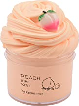 Keemanman Peach Butter Slime, DIY Slime Supplies Kit for Girls and Boys, Stress Relief Toy Scented Slime Toy for Kids Educ...
