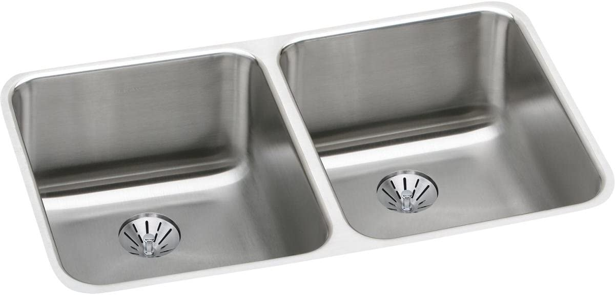 Elkay Max 66% OFF ELUH311810PD Omaha Mall Lustertone Classic Bowl Double Sta Undermount
