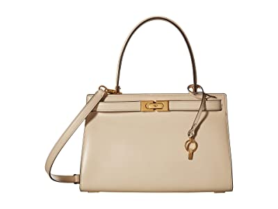 Tory Burch Lee Radziwill Small Bag (New Cream) Handbags