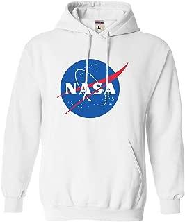 Go All Out Adult Blue NASA Logo Sweatshirt Hoodie