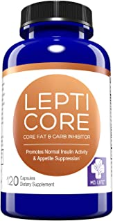 MD. LIFE Lepticore – Supports Weight Loss for Keto Diet – Leptin Resistance with Fat & Carb Inhibitors – Metabolism, Energy & Focus Supplement– Controls Appetite – Keto Pills - 120 Capsules