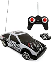 Liberty Imports Super Fast Drift King RC Sports Racing Car Remote Control Drifting Race Car 1:24 + Headlights, Backlights, Side Lights + 2 Sets of Tires (White AE86)