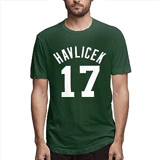 Men's Short Sleeve John-havlicek Number Crew Neck T-Shirt
