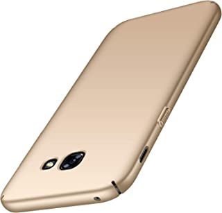 Galaxy A5 2017 Case, Almiao [Ultra-Thin] Minimalist Slim Protective Phone Case Back Cover for Samsung Galaxy A5 2017 (Smooth Gold)