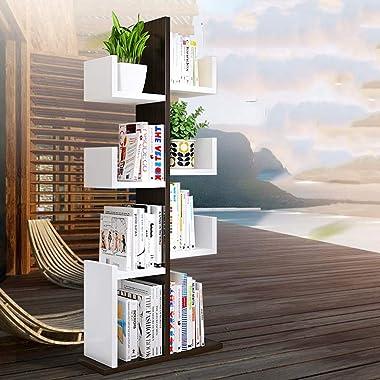 Bookcases Bookshelf Solid Wood Multi-Storey Floor Shelves Personalized Study Bookshelf Living Room Bedroom Bookcase Stylish F