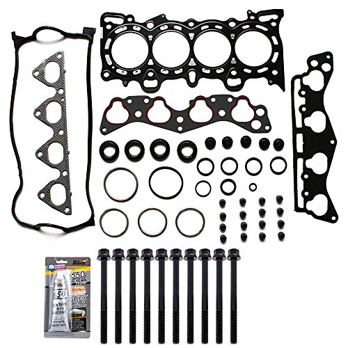 ECCPP Cylinder Head Gasket Set Head Bolts Replacement for 96 97 98 99 00 for Honda Civic Del Sol 1.6L D16Y5 D16Y7 D16Y8