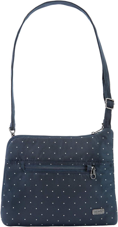 Pacsafe Daysafe Anti-Theft Slim Crossbody Bag Navy Polka Dot One Size