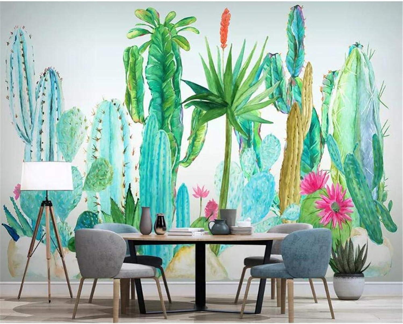 cómodo YYBHTM Fondo De Pantalla 3D Mural Planta Tropical Tropical Tropical Flor De Cactus TV Fondo Papel De Parojo Decoración para El Hogar  Envío 100% gratuito