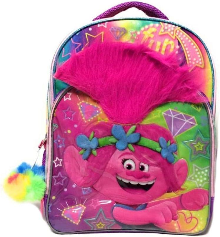 Trolls Poppy 3D Kids Pom Gorgeous Standard Special sale item Backpack W