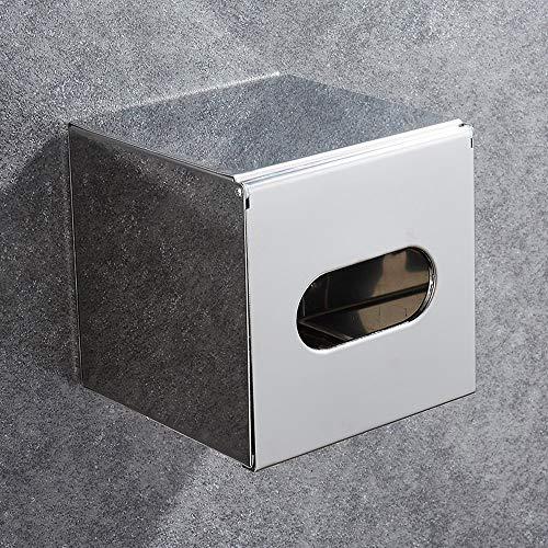 Lefran Edelstahl-Bad-Toilettenpapierhalter, Wandmontierte Wasserdichte Wandeinbau Wandhalterung Toilettenpapierhalter Mit Abdeckung