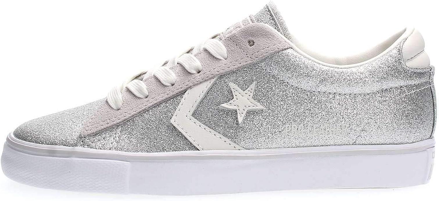 Converse Scarpe Donna Pro Leather Vulc Silver in Tessuto Glitterato Silver 560969C