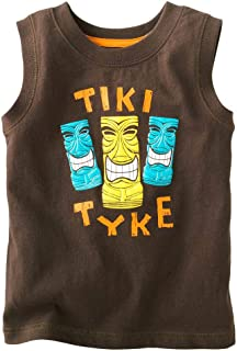 Baby Boy tee Tank Top Cotton Vest Sleeveless Tops Boys Tshirt Summer T-Shirt Tiki Totem Face 2 3 4 5 6 T