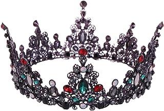 TnSok Diadema da Sposa in Stile retrò, Stile Barocco, Corona, diadema da Principessa, diadema da Sposa, Lega, Multicolore,...