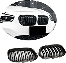 MCARCAR KIT Front Grille fits BMW 1 Series F20 F21 116i 118i 120i 125i M140i Hatchback LCI 2015-2018 Replacement Double Slats Bumper Kidney Grill Cover Trim Body Kit