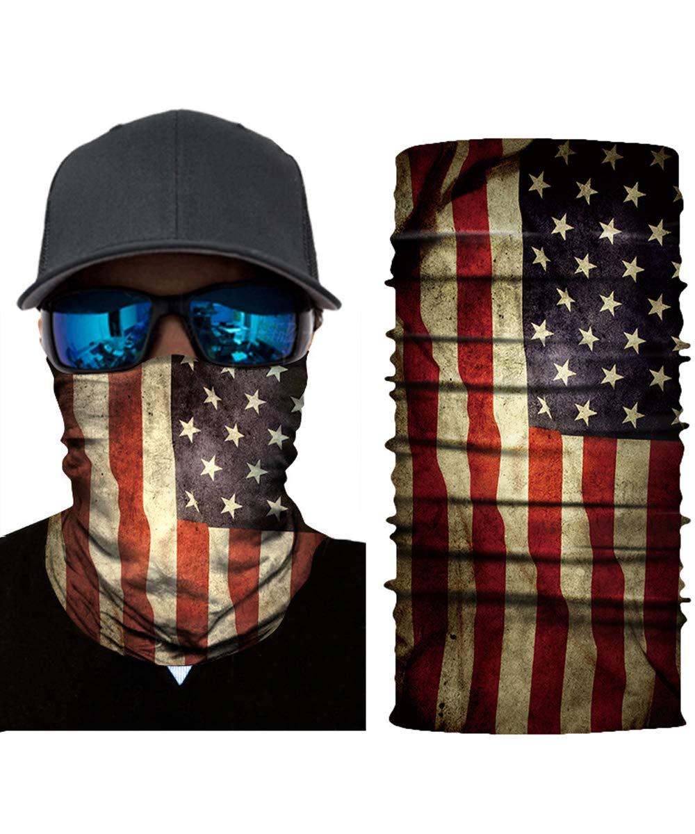 Excellent Neck Gaiter cheap Face Mask 3D Tube Skeleto Seamless Durable Flag USA
