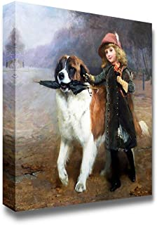 Off to School by Charles Burton Barber - Canvas Print Wall Art Famous Painting Reproduction - 24