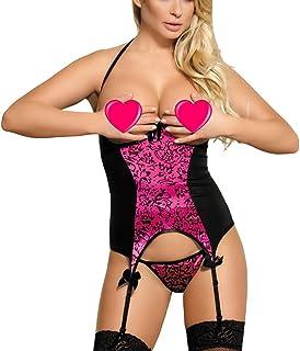 6f250e04fbd MarysGift Women Ladies Suspender Belt Teddy Bodysuit Sexy Lingerie Sets  Leotard Teddies Pole Dance Plus Size