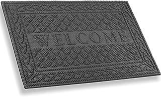 Mibao Entrance Door Mat, Winter Durable Large Heavy Duty Front Outdoor Rug, Non-Slip Welcome Doormat for Entry, Patio, 18 x 30 inch, Grey