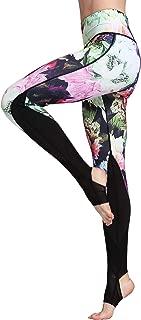 Witkey Printed Extra Long Women Yoga Leggings High Waist Tummy Control Over The Heel Yoga Pants