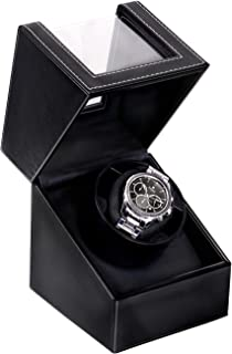 Automatic Single Watch Winder with Durable Watch Leather...