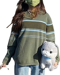 Mujeres Argyle Jumper Suéter de punto Y2k Moda Oscuro Academia Ropa de Manga Larga Casual Pullover Tops E-Gril 90s Preppy ...