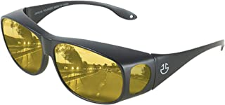 HD Day Night Driving Glasses Fit Over Sunglasses for Men...