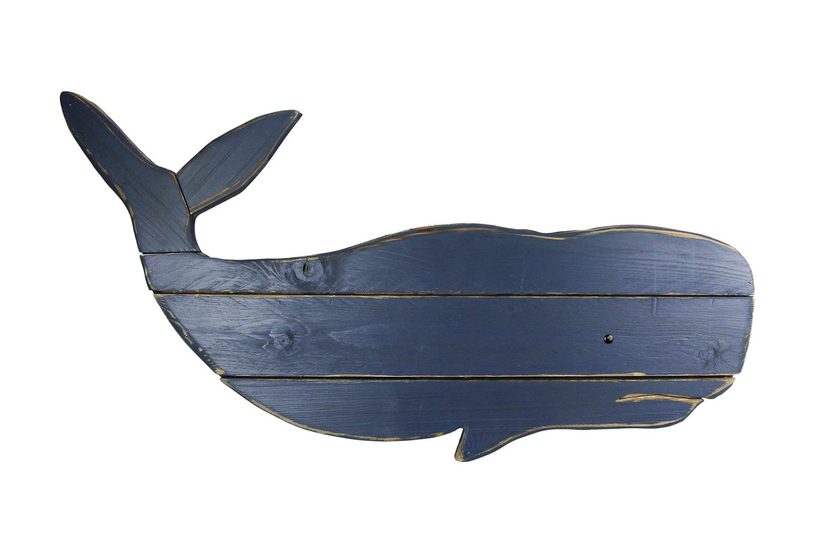 Distressed Finish Blue Wooden Whale Wall Hanging 32 In Buy Online In Kuwait At Desertcart Com Kw Productid 216586693