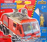 Tonka BTR Search & Rescue Rapid Response FIRE Truck 104 Pieces Building Set w FIRE Fighter Figure, Gear & More!Works w Lego (2003 Hasbro Canada)