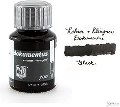Rohrer & Klingner * desde 1892* dokumentus negro, tinta para documentos, bote de 50ml