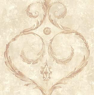 Damask Wallpaper Gold Cream Pale Purple Modern Design