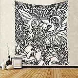 Mandala Sun Tapiz Tarot Tapiz Decoración del hogar Sala de estar Dormitorio Fondo de pared Mural Colgante Manta de tela A3 150x200cm