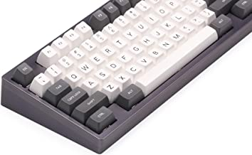 Blue Hat SA Keycap Double Shot Gray Gray&White SA PBT&ABS Double Click Keycap Cherry MX Keycap for Mechanical Keyboard