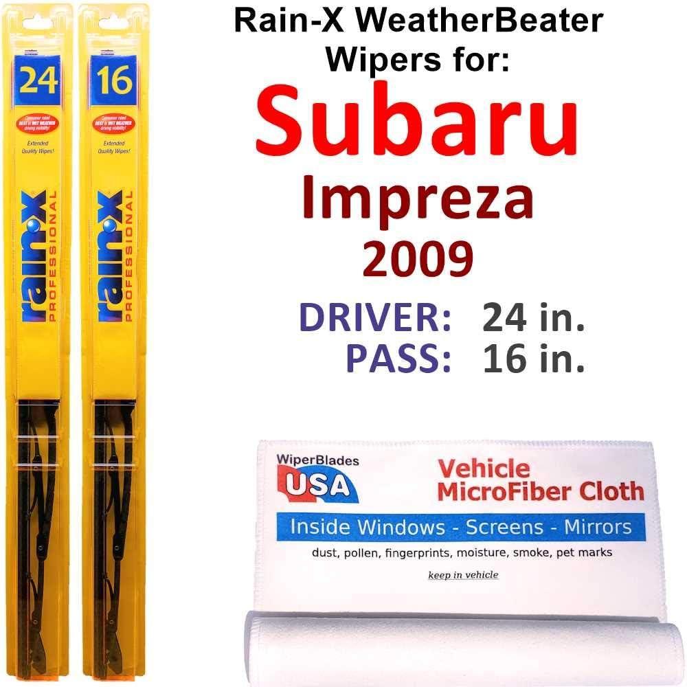 In stock Rain-X Max 60% OFF WeatherBeater Wiper Blades for Set Impreza 2009 Ra Subaru