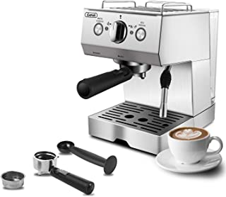 Espresso Machines 15 Bar Cappuccino Machine with Milk Frother for Espresso, Latte and Mocha, 1.5L Removable Water Tank and...