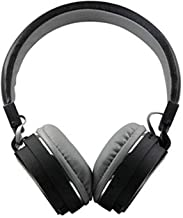 Lopina SH 12 Wireless Universal Bluetooth Headphone Headset With FM And SD Card Slot For Music And Calling Control Black