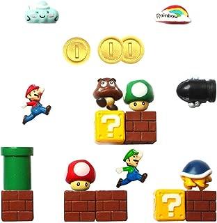 Seiorca Refrigerator Magnets, Mario Decorative Fridge Magnets Kitchen Kit, School Office Fun Decoration Whiteboard Magnet (C)