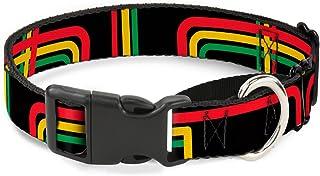"Buckle Down MGC-W31367-L Maze Lines Black/Rasta Martingale Dog Collar 1"" Wide - Fits 15-26"" Neck - Large MGC-W31367-L"