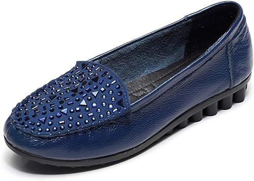 Schuhe Frauen Größe Leder Sommer Weißliche Casual Flacher