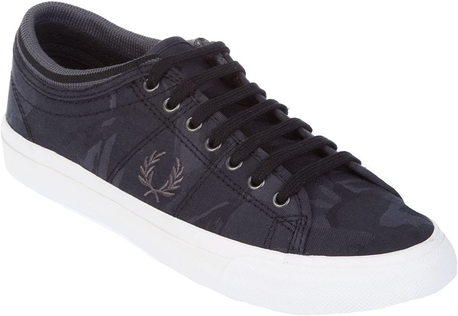 Fred Perry Women's FPB824914102 Black Fabric Sneakers