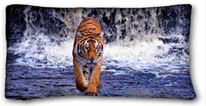 Soft Pillow Case Cover ( Animals waterfall river tiger ) Pillowcase Cover 20