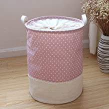 SWZJJ Fashion Patchwork Storage Bag Sundries Storage Basket Home Toys Clothes Storage Box Laundry Basket Household Goods (...