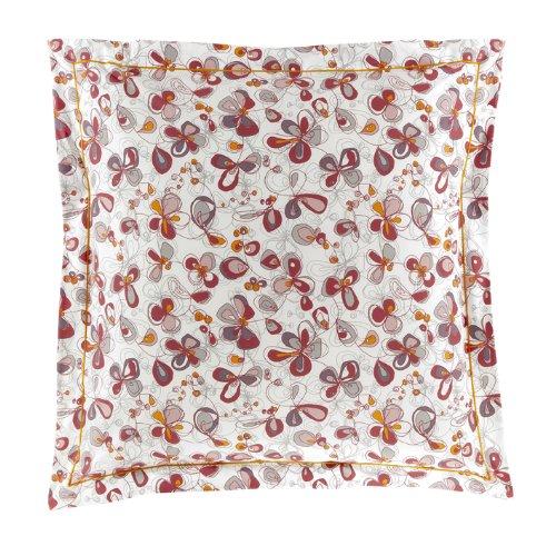 Essix - Taie d'oreiller Esquisse Percale de Coton Blanc 50 x 70 cm