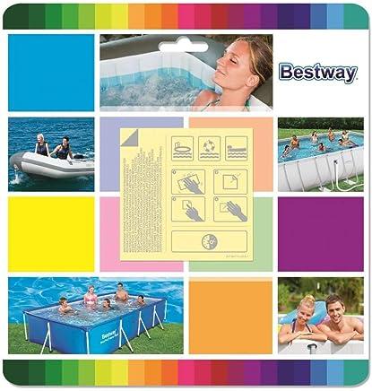 Bestway 62091 Toppe di Riparazione per Piscine, Resistenti all'Acqua, 10 Pezzi