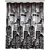 AmazonBasics – PEVA-Duschvorhang mittelschwer, Stadt, 183 x 183 cm