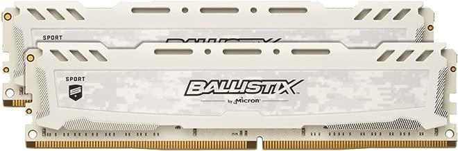 Crucial Ballistix Sport LT 3000 MHz DDR4 DRAM Desktop Gaming Memory Kit 16GB (8GBx2) CL15 BLS2K8G4D30AESCK (White)